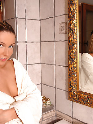 Cherry Jul fantastic nudity solo in the shower to end with a fine orgasm