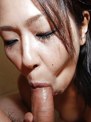 Horny mature Asian couple suck and fuck like mad in the shower