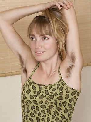 Rosy Hart is slender and hairy. She loves to exercise and let her hairy pits breathe. She is a sexy sports girl and strips naked to show off her all-natural figure. She has a hairy pussy worth watching.