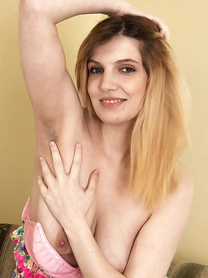 Terry is playful and a hairy woman. She takes out her red paint and paints a special hairy message to all. Then, she strips naked and spreads her legs to show off her very beautiful all-natural body.