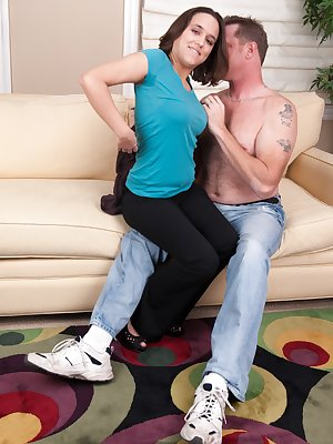 When hairy girl Viola Starr walks in from work to see her boyfriend passed out on the couch she decides to give him a sweet awakening. She straddles him and lets him touch her hairy body all over.