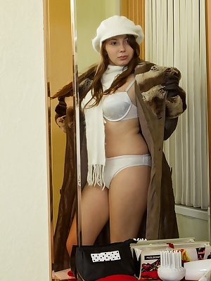 Silviya isn't playing around in her fancy fur coat and lingerie. This hairy girl is ready to get off in a big way. Watch how she pleases her hairy pussy in this furry hirsute porn!
