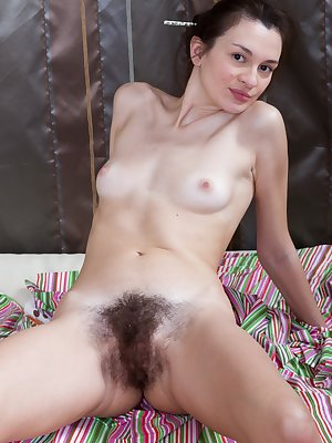 Eliza is a pretty young girl, but her best asset is her extremely hairy pussy. She has more hair than most, and she is super proud of her hairy pussy. Eliza loves to show her ultra hairy bush off.