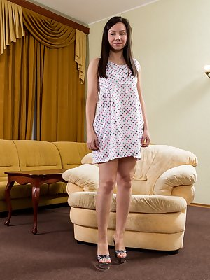 Hairy girl Dana may look sweet and innocent, especially in her floral dress, but this hairy girl loves to get down and dirty with boys who can handle her hairy mound. Are you man enough?