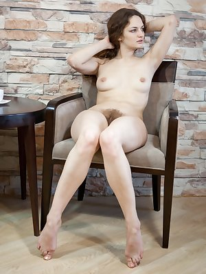 What does beautiful hairy girl Ginger like to wear under her micro mini denim skirt? Nothing, that's what. Check out this steamy hirsute gallery to get a peak at her moist hairy mound!