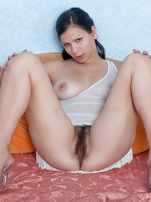 Bianka sure does love her toys. She needs to dtirp and get rid of all her tension. As she lays on the bed, she can't help but to show off her hairy pussy. A hairy woman needs toys. Bianka just love to shove these toys up her pussy.