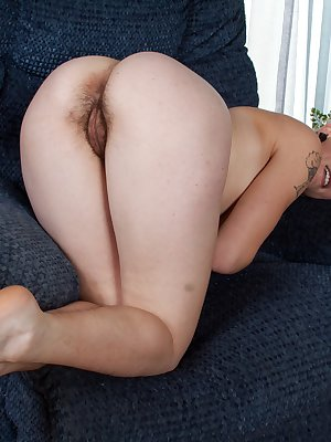 With all her clothes on the floor, Usnea's pussy begins to get wet and warm as she shows off in some sexy inviting positions.