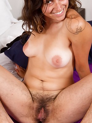 Be amazed as all natural Monica reveals her incredibly hair body and big furry pussy. Your tongue will easily get lost in her jungle.