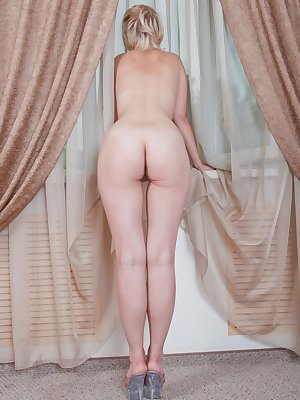 Sonya's pussy is always soaking wet with thick white girl cum. She has a hairy bush so moist you can almost taste it, and she wants you too!