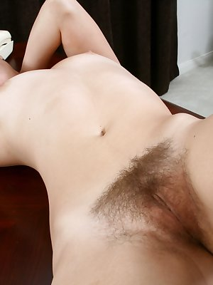 Sexy secretary Chloe takes a break from work and the fun soon begins. Within moments she flaunts her sensational hairy beaver and natural hairy armpits. A true asset to the company..