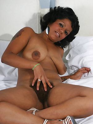 Check out this busty black lady as she goes down to deepthroat a dick and got her hairy pussy fucked hard