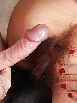 Amateur and busty Latoya gets her hairy pussy licked and fucked
