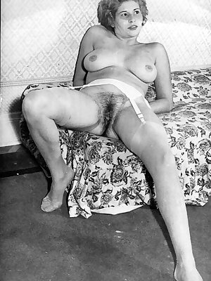 Horny vintage models spreading wide open to show off their hairy snatches