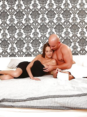 Sexy wife Silvie Deluxe giving her husband's fat cock a blowjob before sex