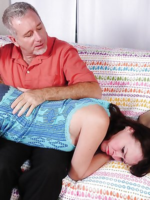 Mature babe with big tits Veronica has her hairy cunt licked out