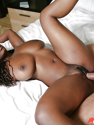 Spicy ebony Stacy Adams is licking his tasty white dickhead!