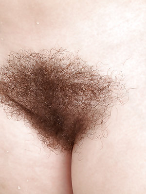 Hirsute mature broad displaying hairy legs and tiny tits in bathtub