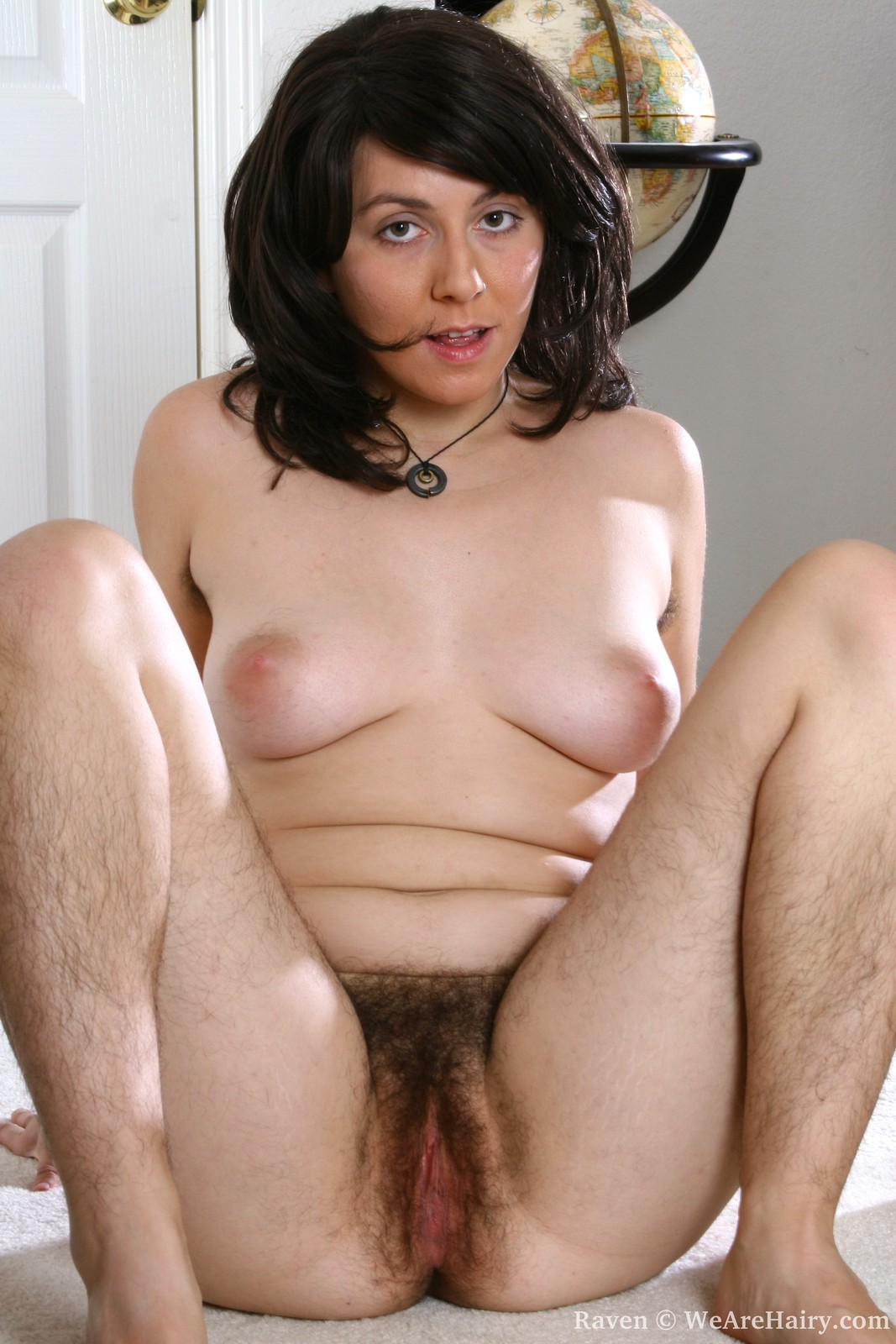 Hairy Raven - This all natural girl is just covered in fluff! Hairy legs, hairy armpits,  hairy ass and of course HAIRY PUSSY! Raven is the complete package.